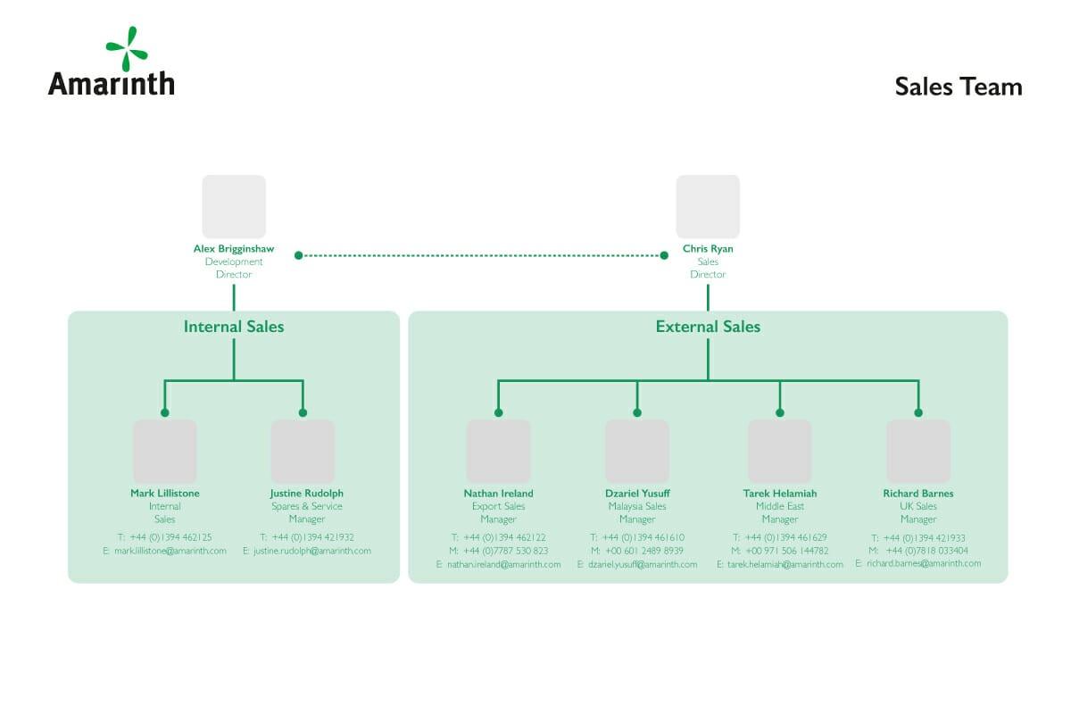 Amarinth Organisation Sales Structure