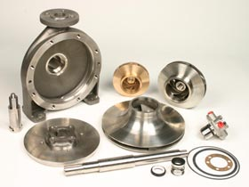 A selection of Amarinth pump spare parts.